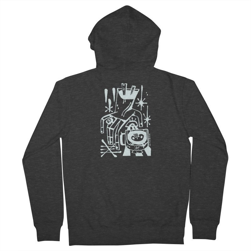 MORNING BREW (wht) Wishbow x Voidmerch Women's French Terry Zip-Up Hoody by VOID MERCH