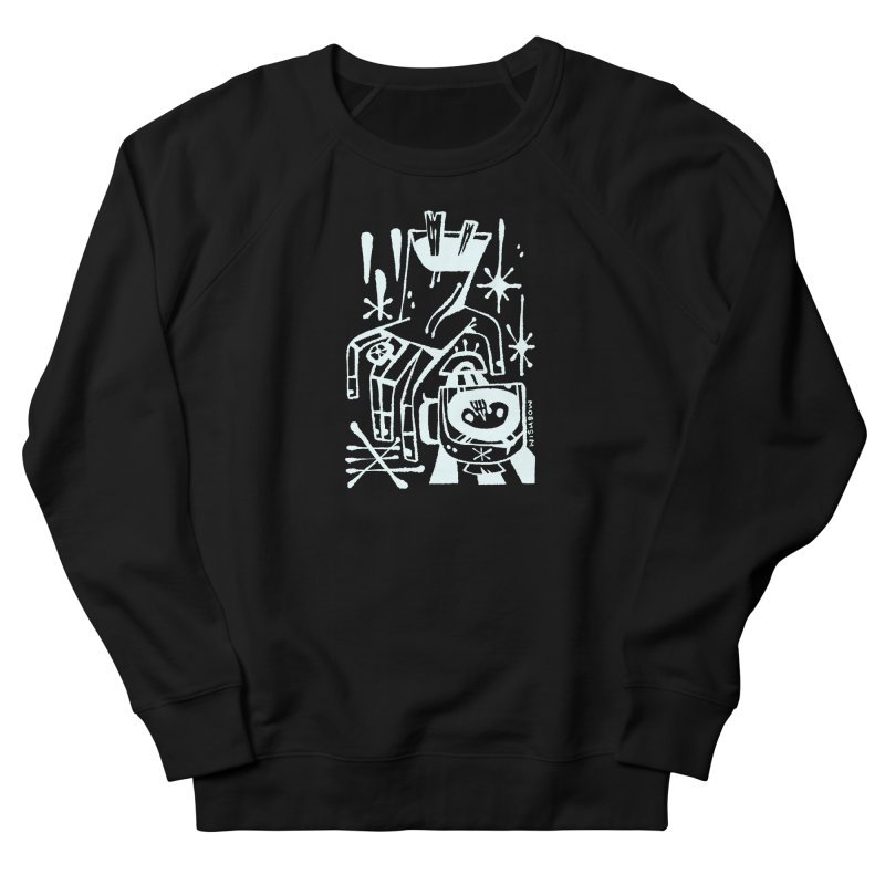 MORNING BREW (wht) Wishbow x Voidmerch Women's French Terry Sweatshirt by VOID MERCH