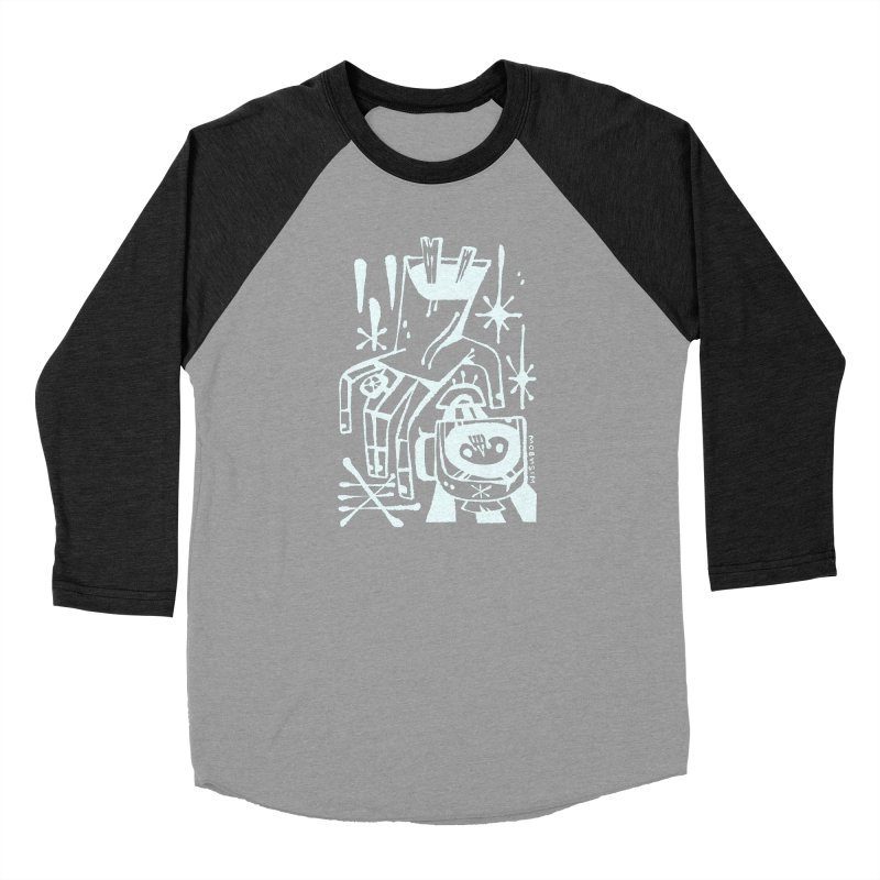 MORNING BREW (wht) Wishbow x Voidmerch Women's Baseball Triblend Longsleeve T-Shirt by VOID MERCH