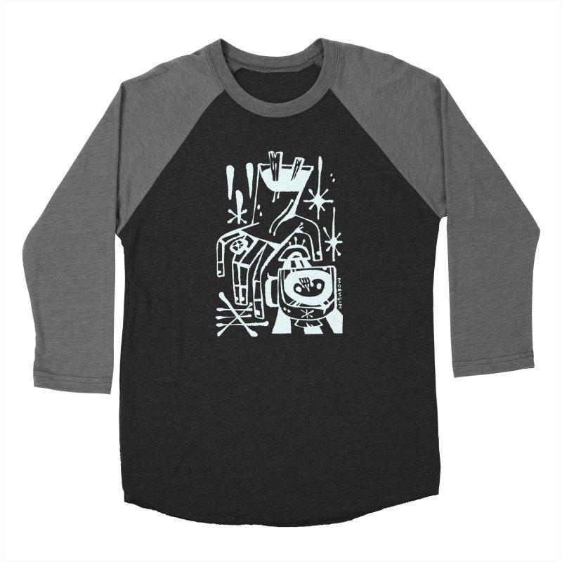 MORNING BREW (wht) Wishbow x Voidmerch Men's Baseball Triblend Longsleeve T-Shirt by VOID MERCH