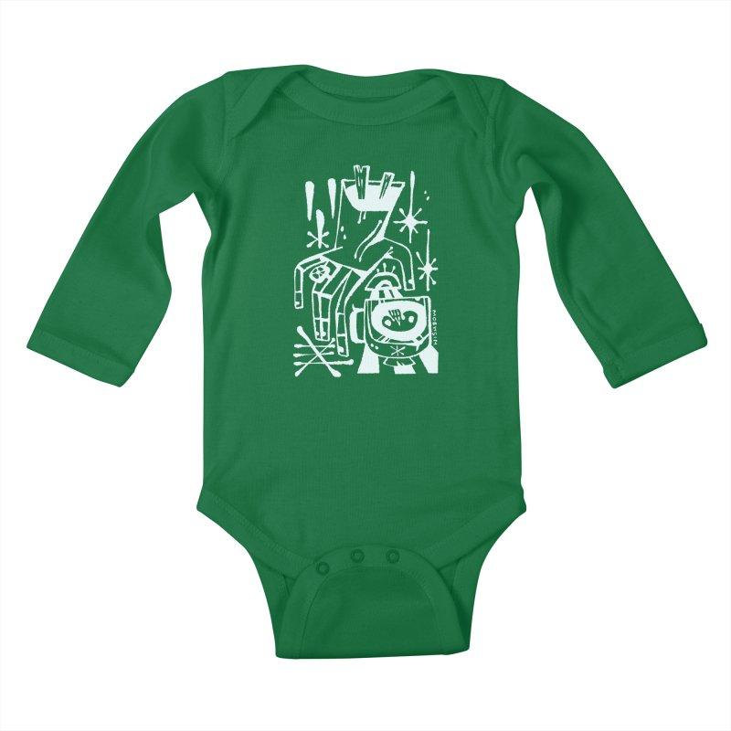MORNING BREW (wht) Wishbow x Voidmerch Kids Baby Longsleeve Bodysuit by VOID MERCH
