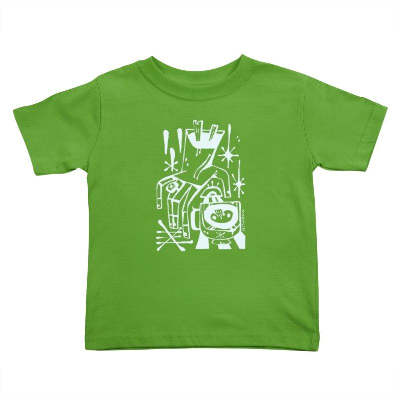 MORNING BREW (wht) Wishbow x Voidmerch Kids Toddler T-Shirt by VOID MERCH