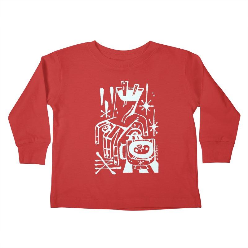 MORNING BREW (wht) Wishbow x Voidmerch Kids Toddler Longsleeve T-Shirt by VOID MERCH