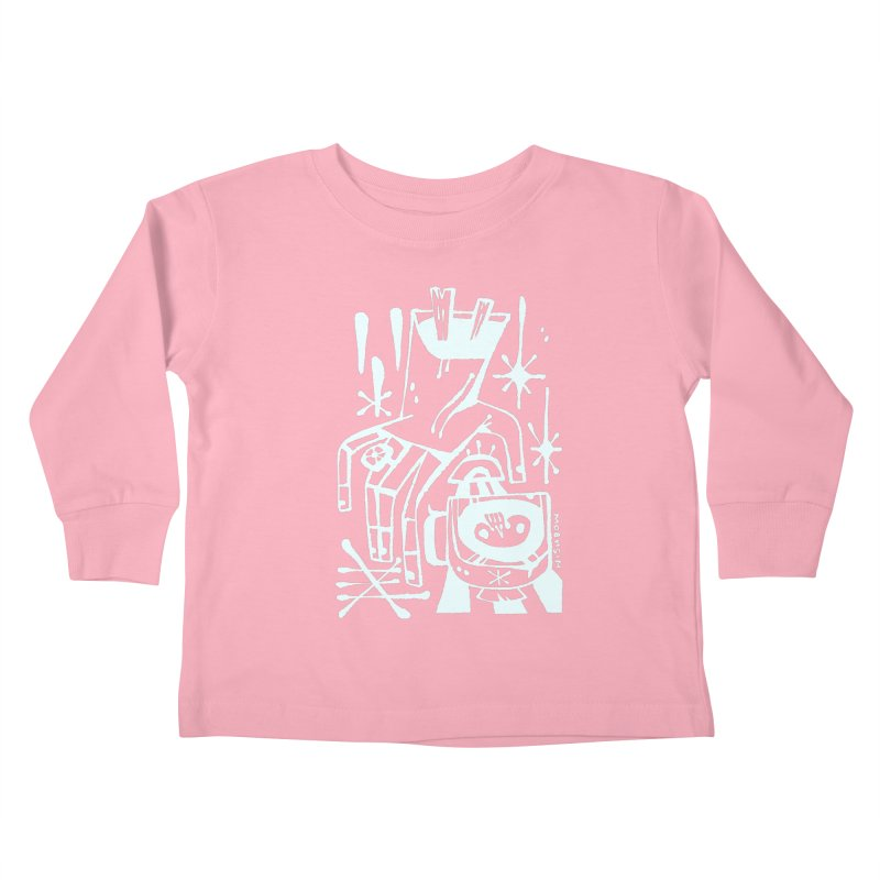 MORNING BREW (wht) Wishbow x Voidmerch Kids Toddler Longsleeve T-Shirt by VOID MERCH