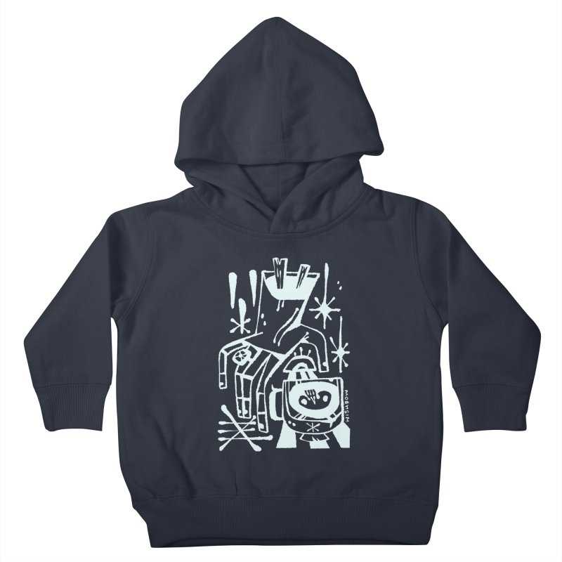 MORNING BREW (wht) Wishbow x Voidmerch Kids Toddler Pullover Hoody by VOID MERCH