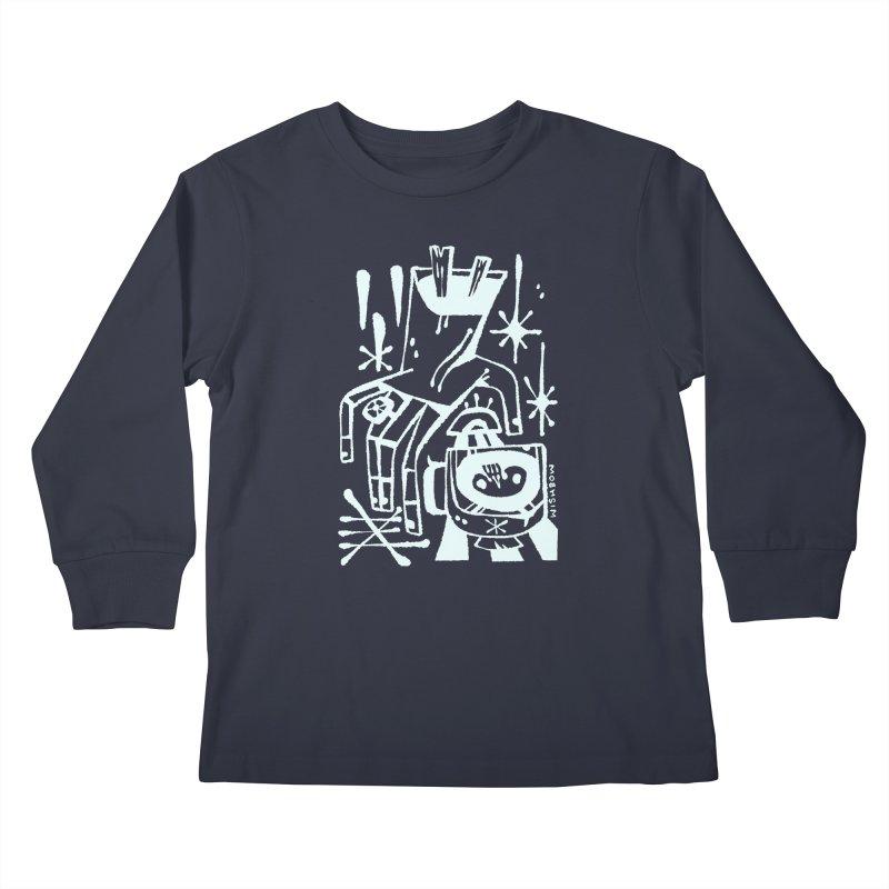 MORNING BREW (wht) Wishbow x Voidmerch Kids Longsleeve T-Shirt by VOID MERCH