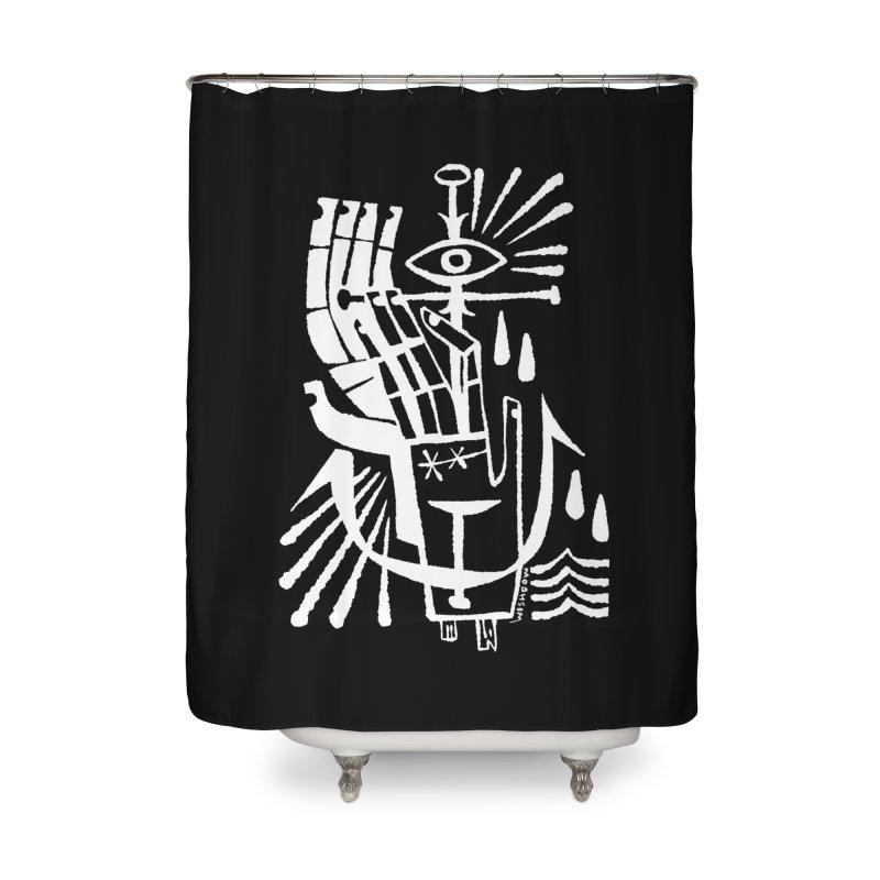 ANCHOR (wht) Wishbow x Voidmerch Home Shower Curtain by VOID MERCH
