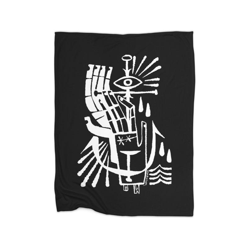 ANCHOR (wht) Wishbow x Voidmerch Home Fleece Blanket Blanket by VOID MERCH