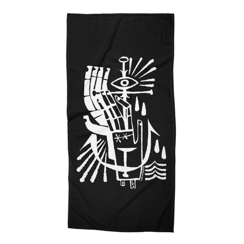ANCHOR (wht) Wishbow x Voidmerch Accessories Beach Towel by VOID MERCH