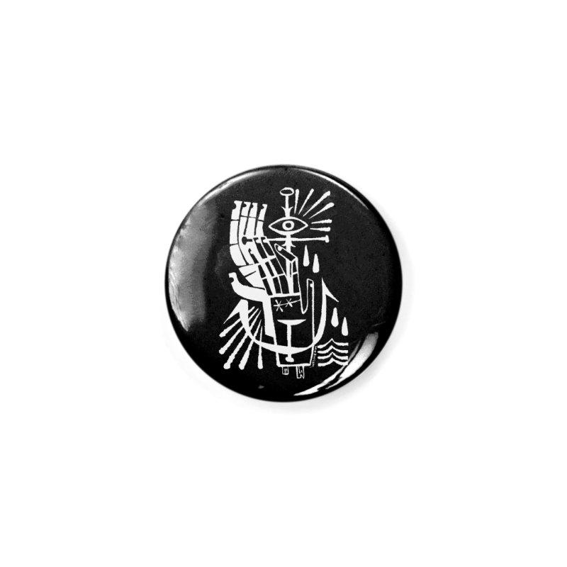 ANCHOR (wht) Wishbow x Voidmerch Accessories Button by VOID MERCH