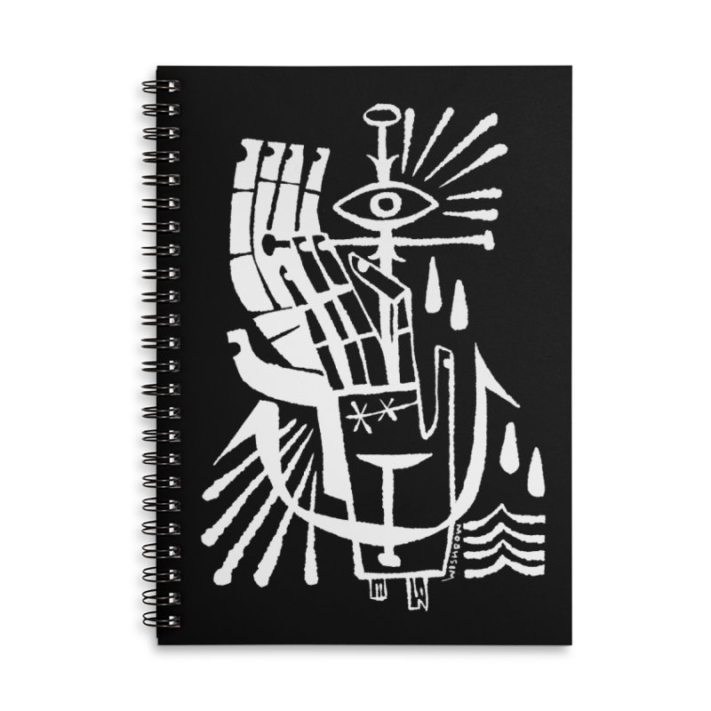 ANCHOR (wht) Wishbow x Voidmerch Accessories Lined Spiral Notebook by VOID MERCH