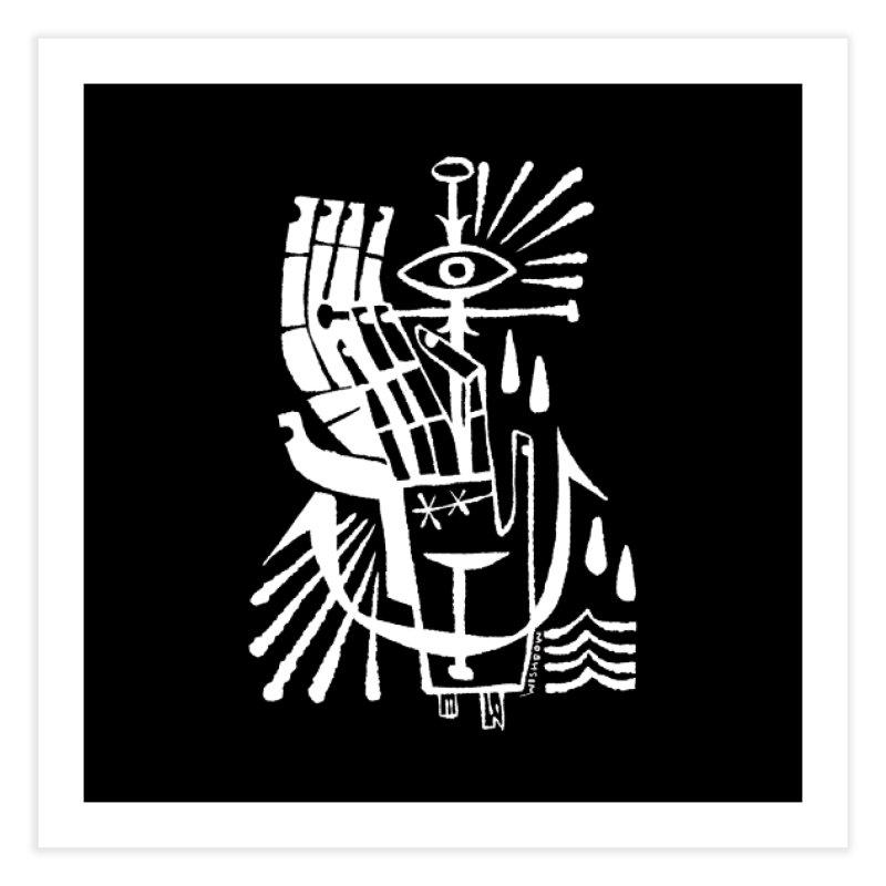 ANCHOR (wht) Wishbow x Voidmerch Home Fine Art Print by VOID MERCH