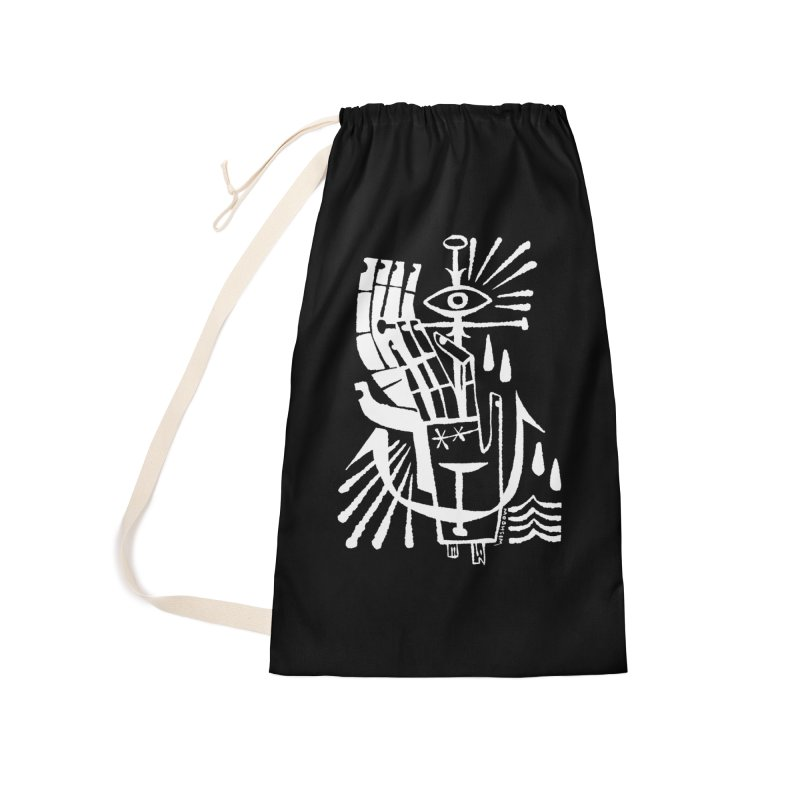 ANCHOR (wht) Wishbow x Voidmerch Accessories Laundry Bag Bag by VOID MERCH