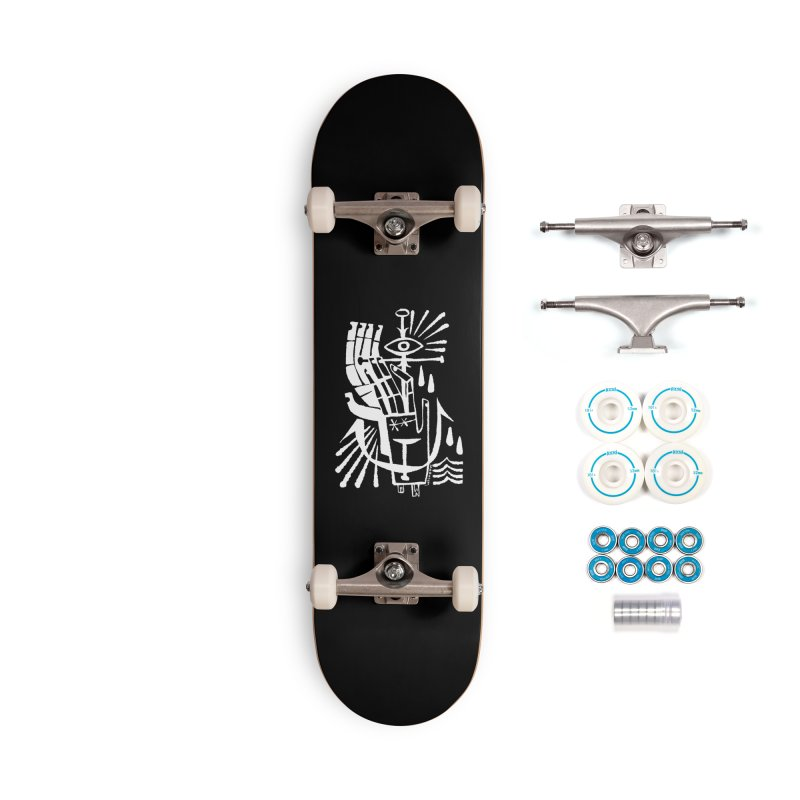 ANCHOR (wht) Wishbow x Voidmerch Accessories Complete - Basic Skateboard by VOID MERCH