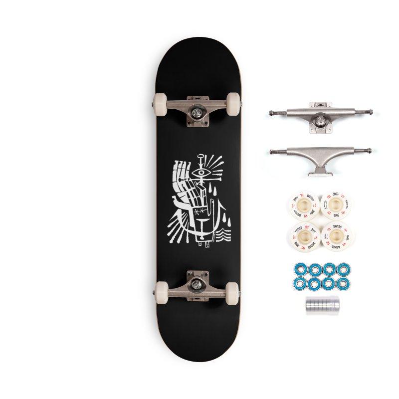 ANCHOR (wht) Wishbow x Voidmerch Accessories Complete - Premium Skateboard by VOID MERCH