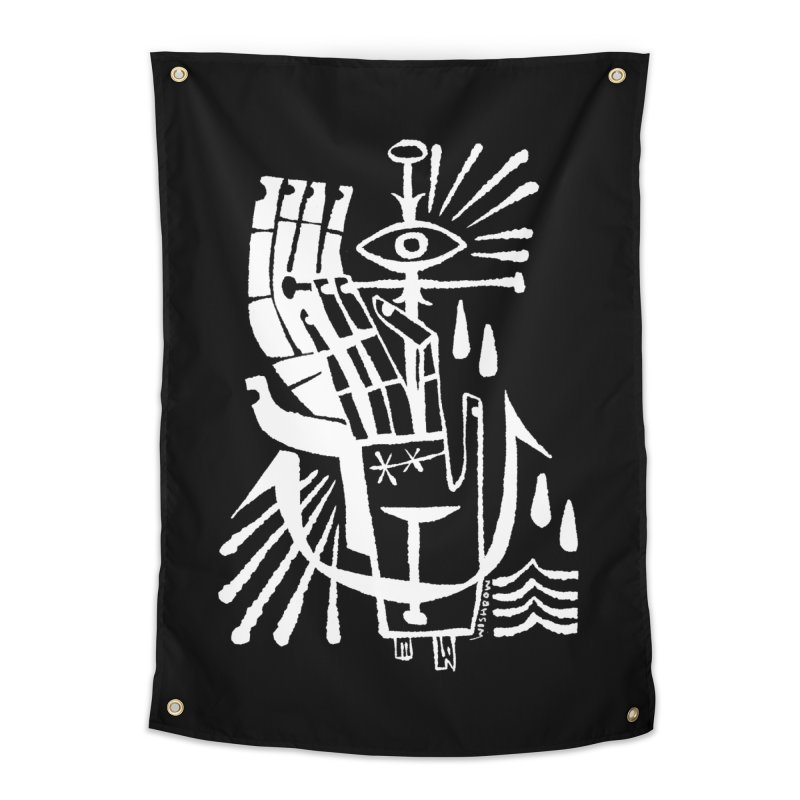 ANCHOR (wht) Wishbow x Voidmerch Home Tapestry by VOID MERCH