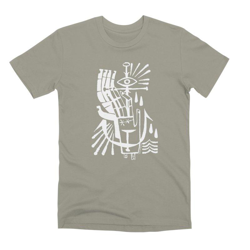ANCHOR (wht) Wishbow x Voidmerch Men's Premium T-Shirt by VOID MERCH