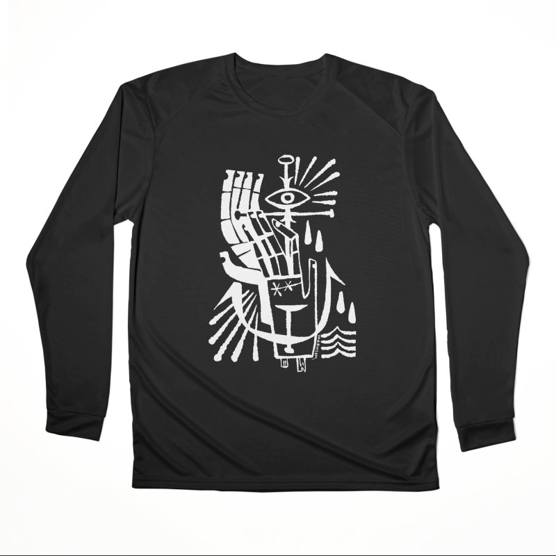 ANCHOR (wht) Wishbow x Voidmerch Men's Performance Longsleeve T-Shirt by VOID MERCH