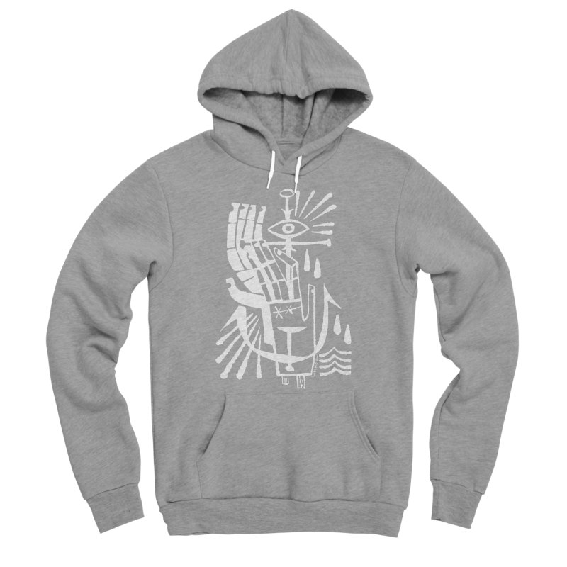 ANCHOR (wht) Wishbow x Voidmerch Men's Sponge Fleece Pullover Hoody by VOID MERCH