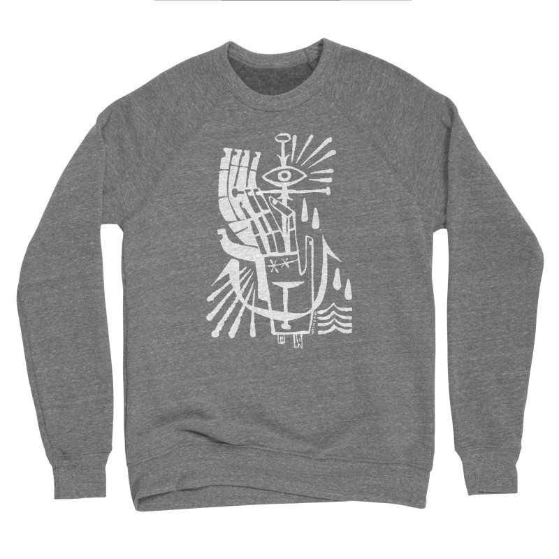 ANCHOR (wht) Wishbow x Voidmerch Men's Sponge Fleece Sweatshirt by VOID MERCH
