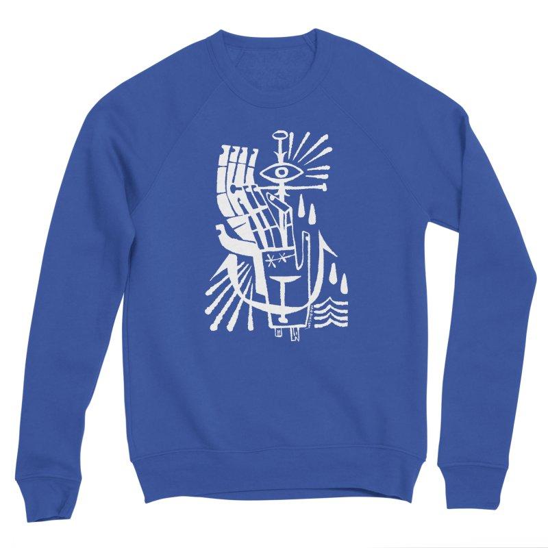 ANCHOR (wht) Wishbow x Voidmerch Women's Sponge Fleece Sweatshirt by VOID MERCH