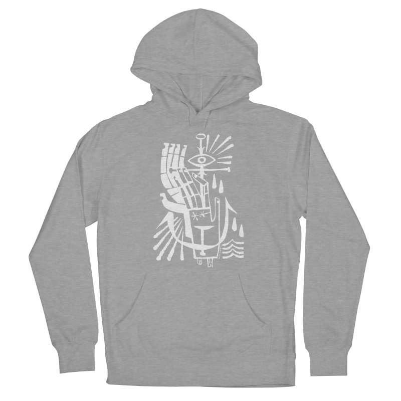 ANCHOR (wht) Wishbow x Voidmerch Women's French Terry Pullover Hoody by VOID MERCH