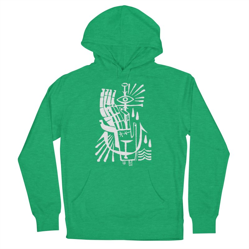 ANCHOR (wht) Wishbow x Voidmerch Men's French Terry Pullover Hoody by VOID MERCH