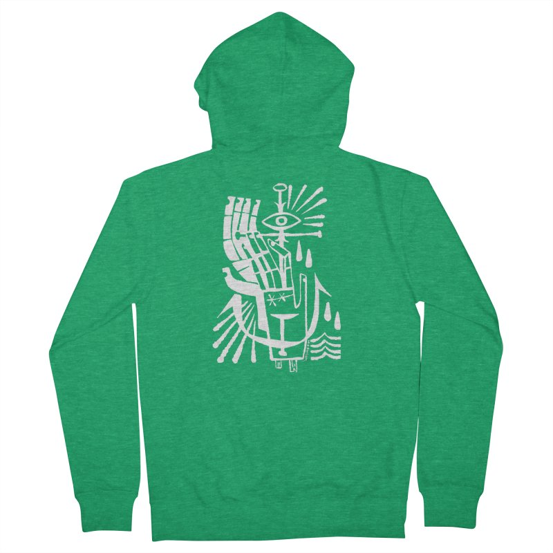 ANCHOR (wht) Wishbow x Voidmerch Women's French Terry Zip-Up Hoody by VOID MERCH