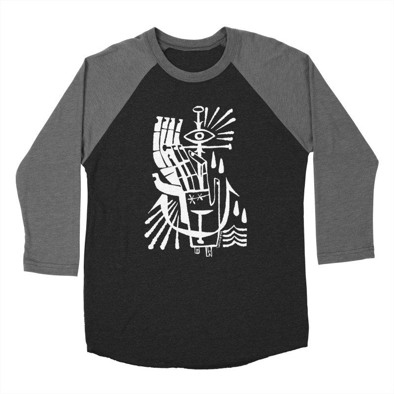 ANCHOR (wht) Wishbow x Voidmerch Women's Baseball Triblend Longsleeve T-Shirt by VOID MERCH