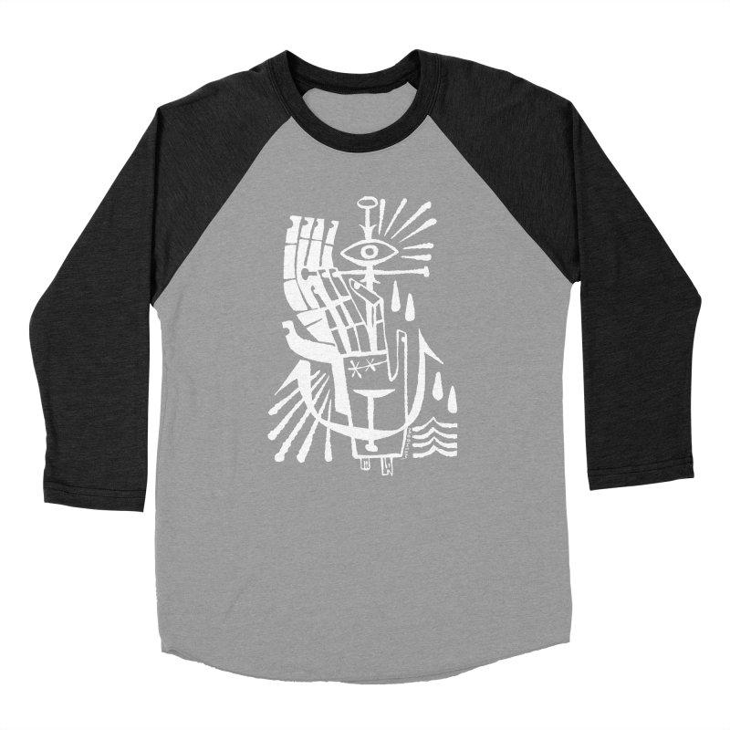 ANCHOR (wht) Wishbow x Voidmerch Men's Baseball Triblend Longsleeve T-Shirt by VOID MERCH