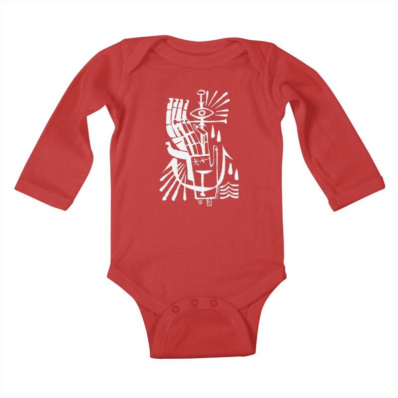 ANCHOR (wht) Wishbow x Voidmerch Kids Baby Longsleeve Bodysuit by VOID MERCH