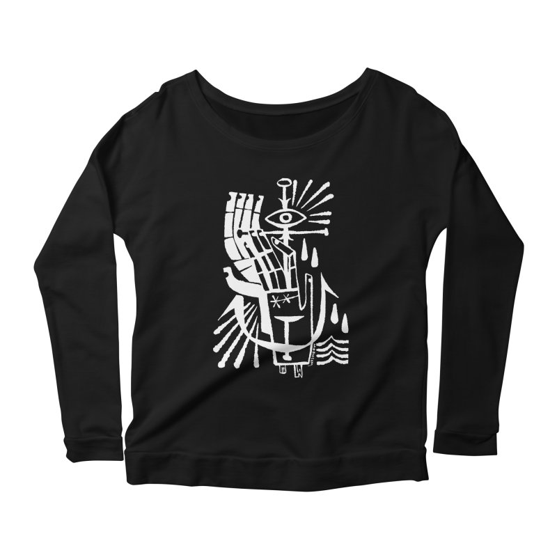 ANCHOR (wht) Wishbow x Voidmerch Women's Scoop Neck Longsleeve T-Shirt by VOID MERCH