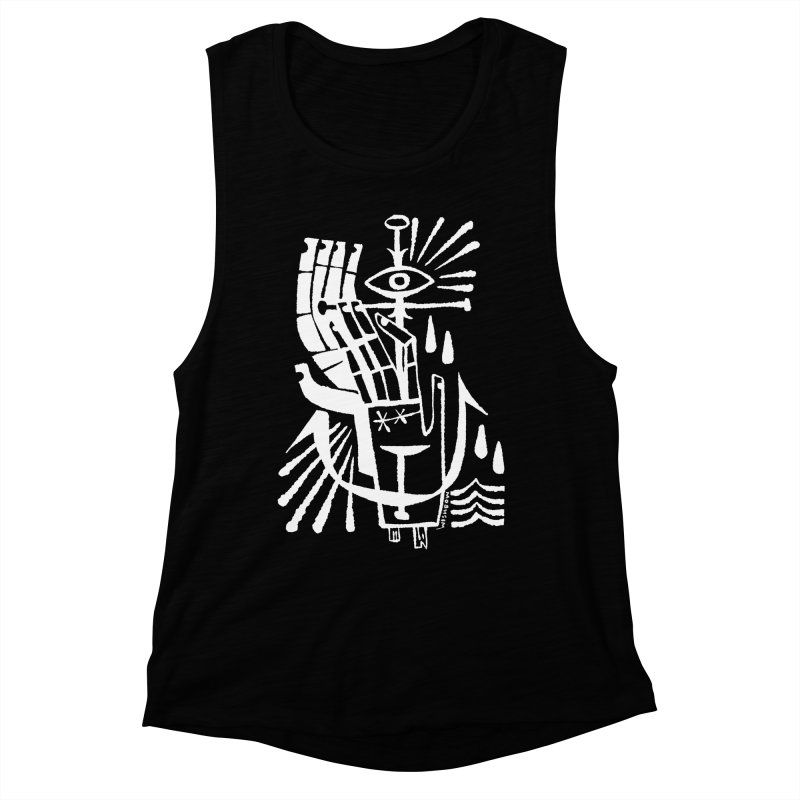 ANCHOR (wht) Wishbow x Voidmerch Women's Muscle Tank by VOID MERCH