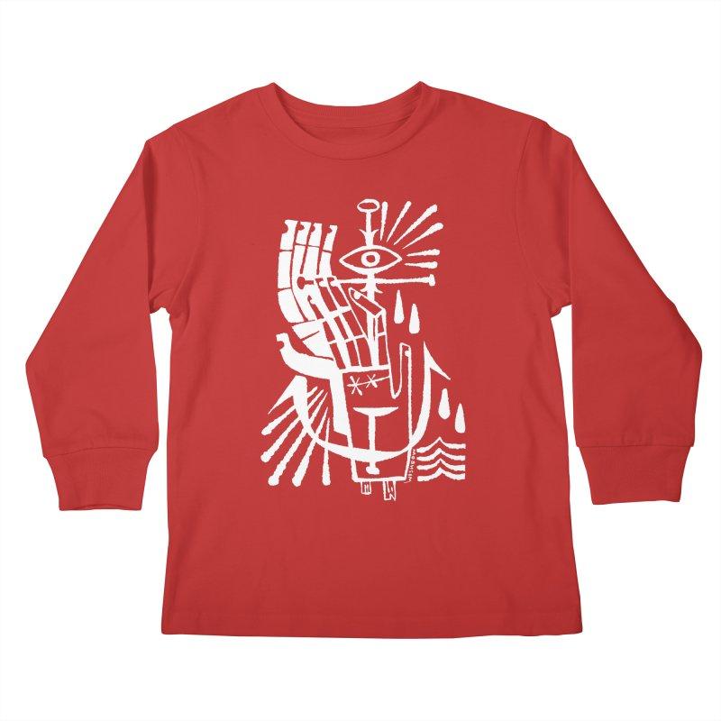 ANCHOR (wht) Wishbow x Voidmerch Kids Longsleeve T-Shirt by VOID MERCH