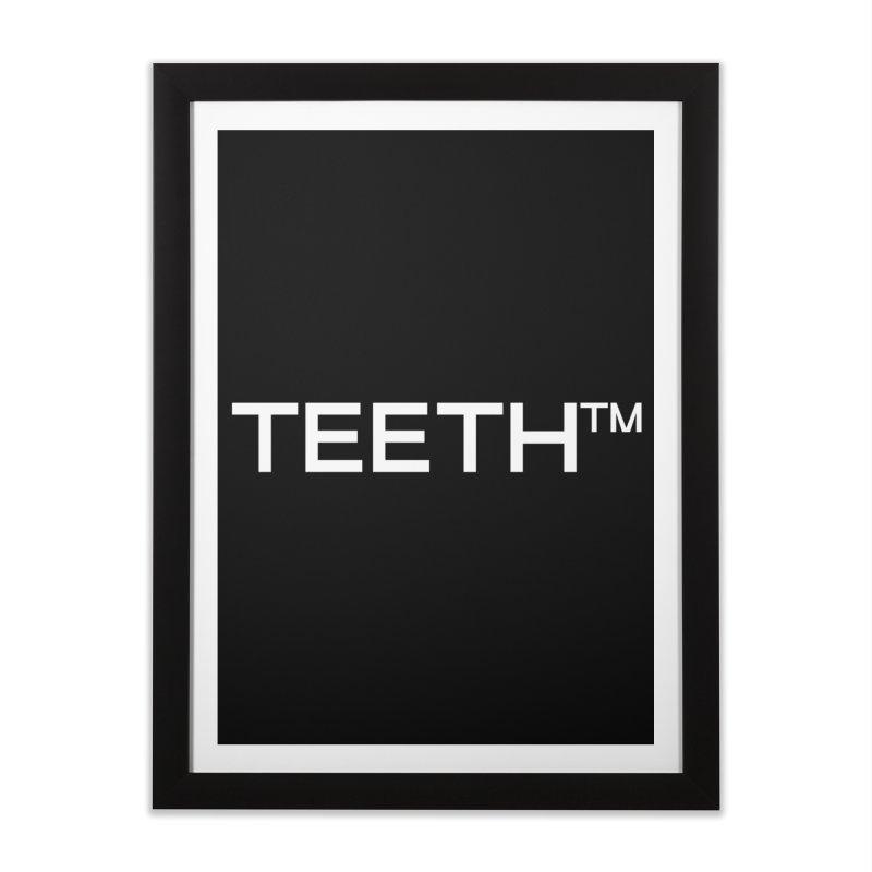 TEETH(tm) Home Framed Fine Art Print by VOID MERCH
