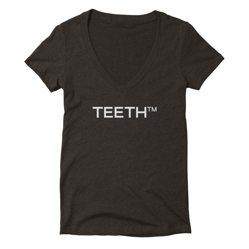 TEETH(tm) Women's Deep V-Neck V-Neck by VOID MERCH