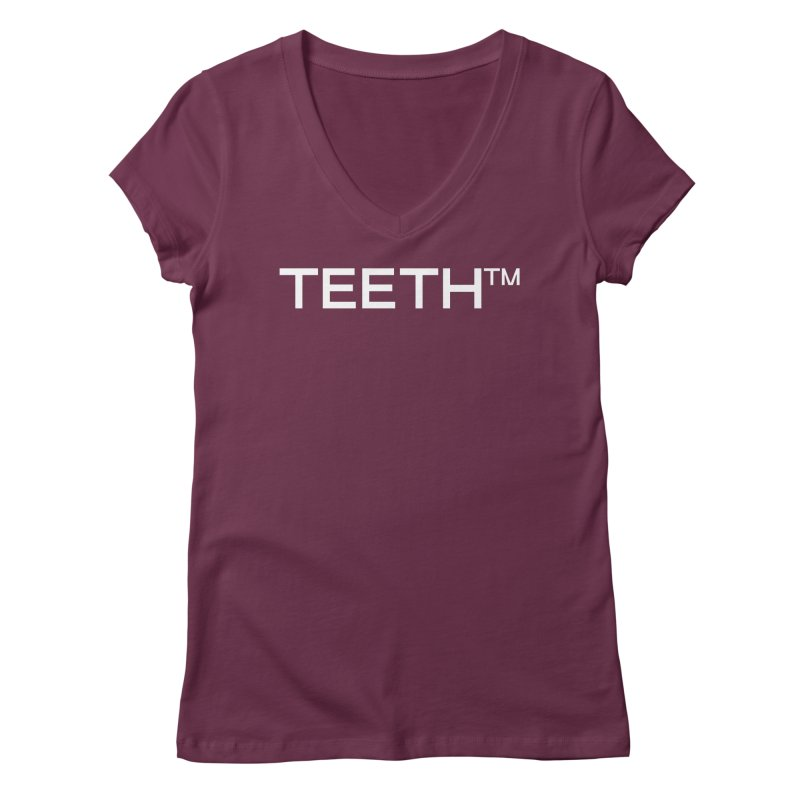 TEETH(tm) Women's Regular V-Neck by VOID MERCH