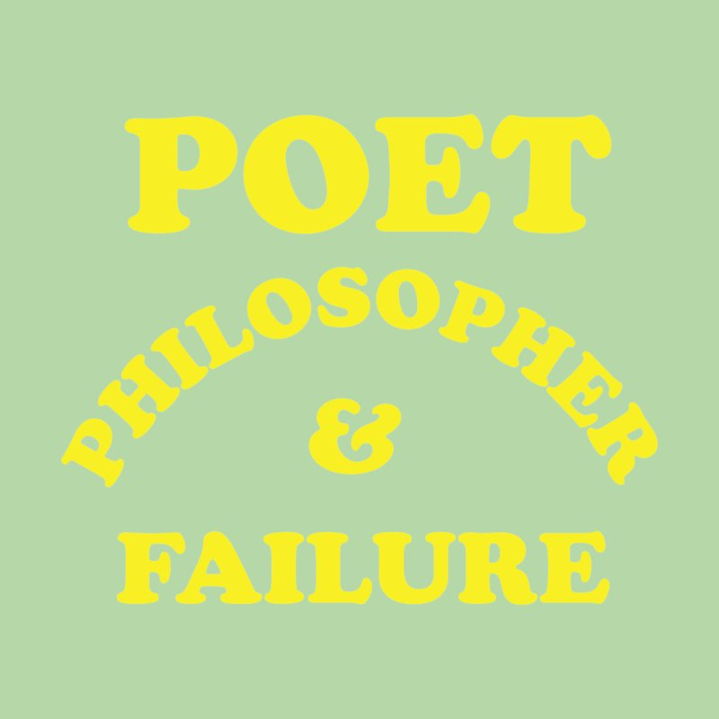 POET PHILOSOPHER & FAILURE (yllw) Accessories Water Bottle by VOID MERCH