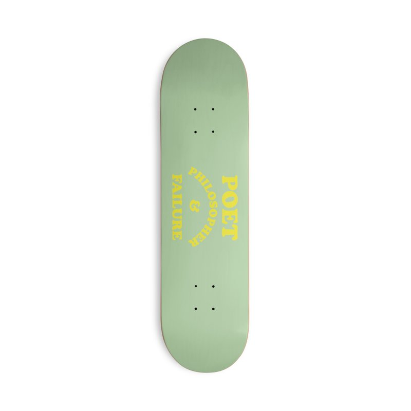 POET PHILOSOPHER & FAILURE (yllw) Accessories Deck Only Skateboard by VOID MERCH