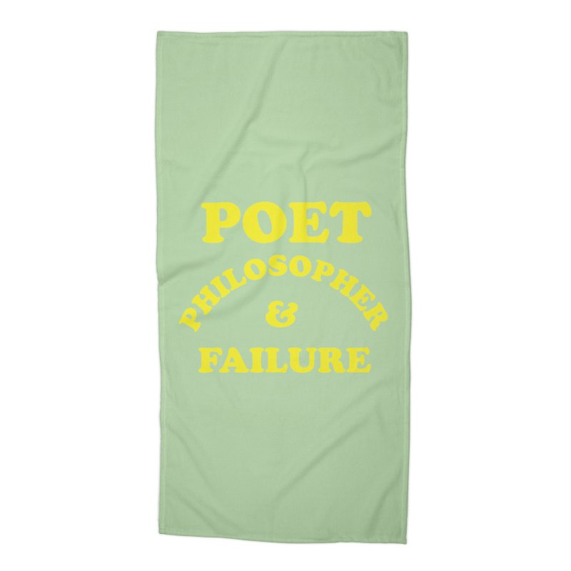 POET PHILOSOPHER & FAILURE (yllw) Accessories Beach Towel by VOID MERCH