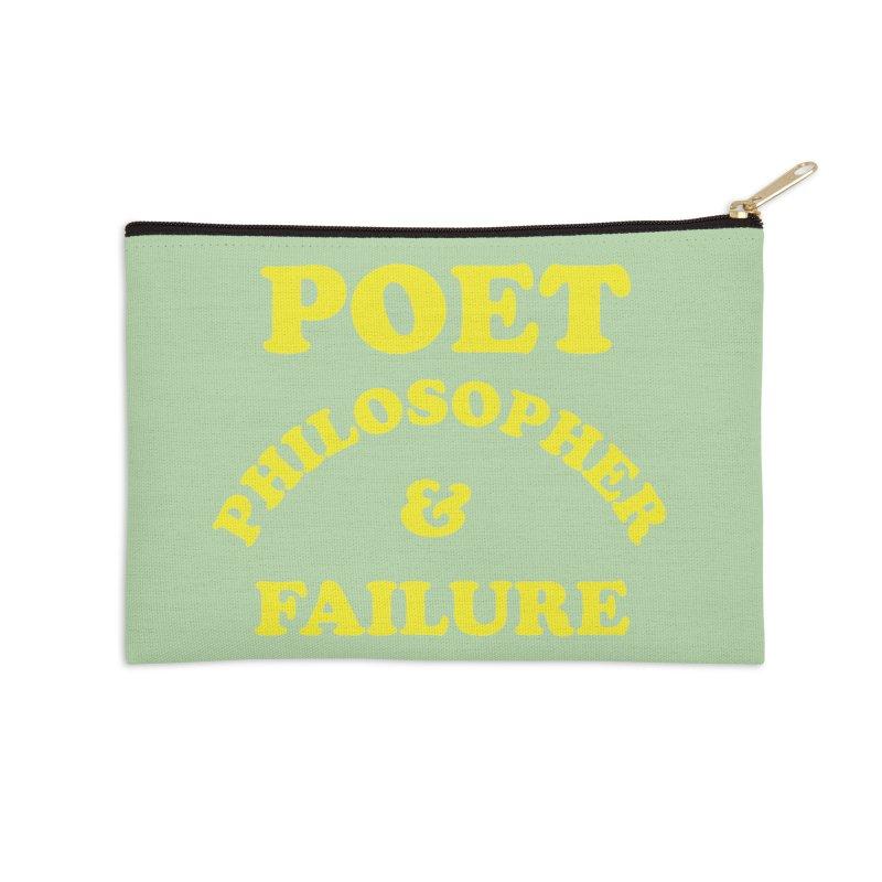POET PHILOSOPHER & FAILURE (yllw) Accessories Zip Pouch by VOID MERCH