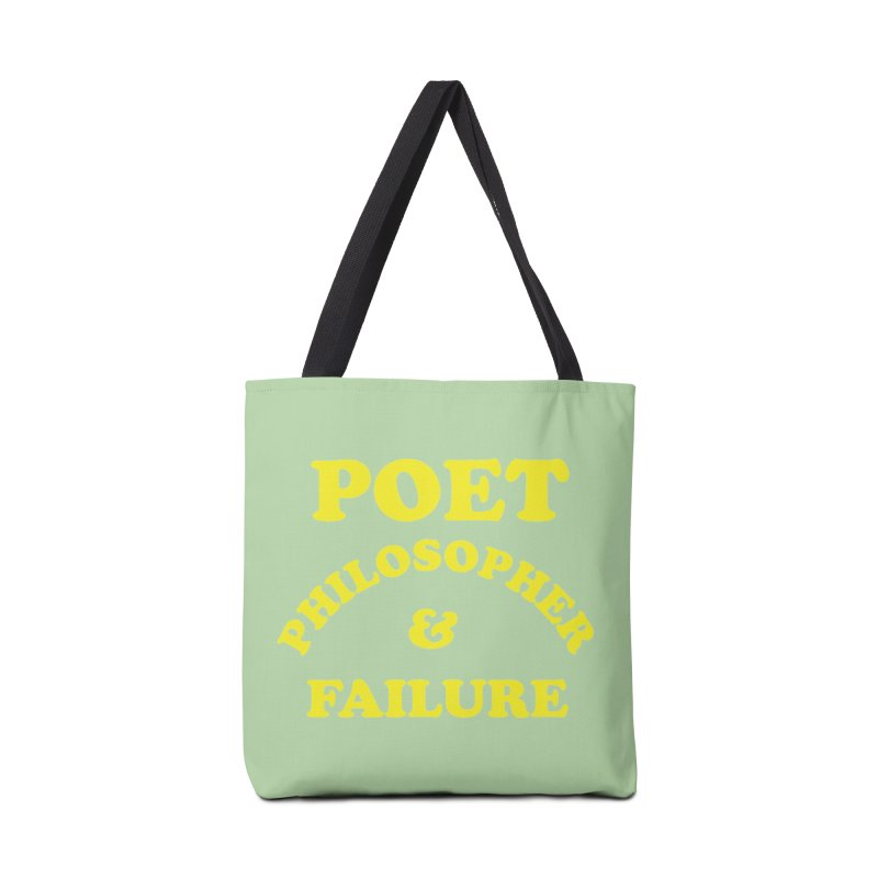 POET PHILOSOPHER & FAILURE (yllw) Accessories Tote Bag Bag by VOID MERCH