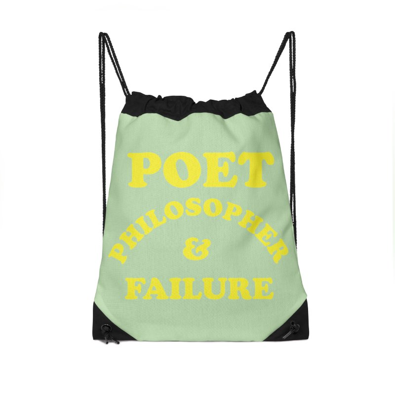 POET PHILOSOPHER & FAILURE (yllw) Accessories Drawstring Bag Bag by VOID MERCH
