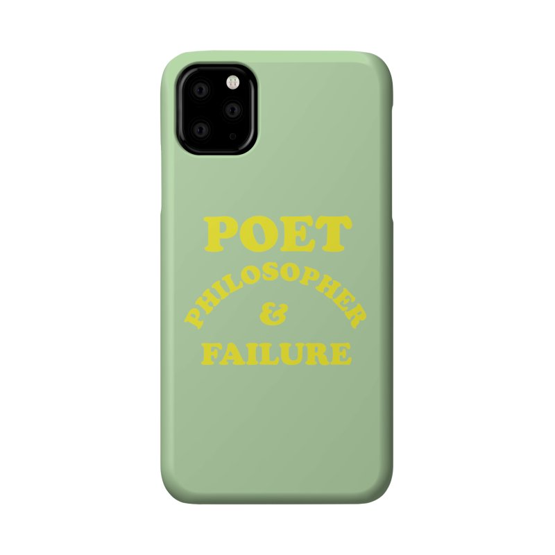 POET PHILOSOPHER & FAILURE (yllw) Accessories Phone Case by VOID MERCH
