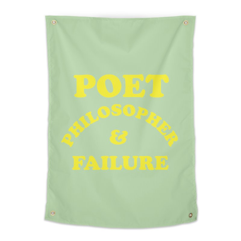 POET PHILOSOPHER & FAILURE (yllw) Home Tapestry by VOID MERCH