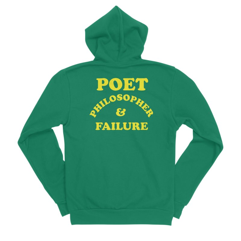 POET PHILOSOPHER & FAILURE (yllw) Men's Sponge Fleece Zip-Up Hoody by VOID MERCH