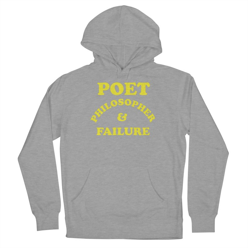 POET PHILOSOPHER & FAILURE (yllw) Men's French Terry Pullover Hoody by VOID MERCH