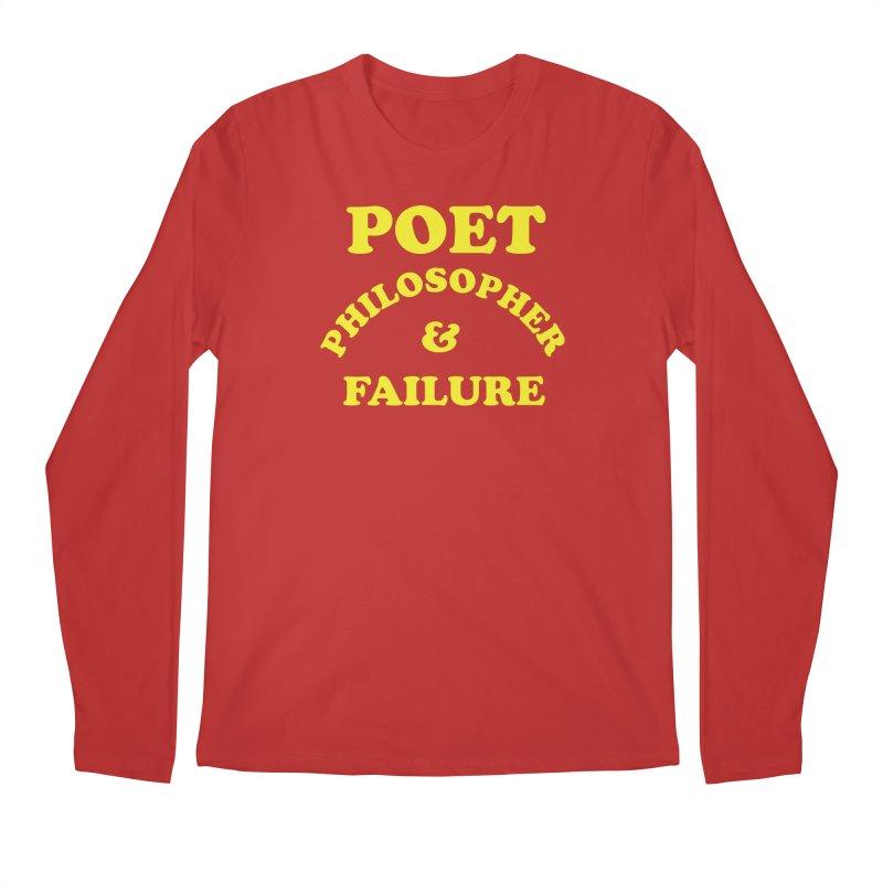 POET PHILOSOPHER & FAILURE (yllw) Men's Regular Longsleeve T-Shirt by VOID MERCH