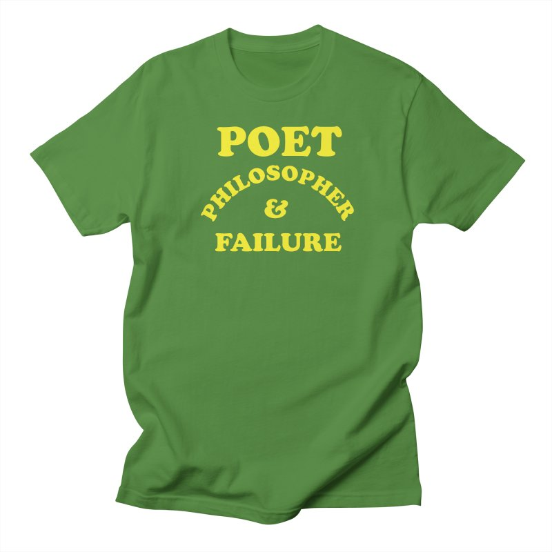 POET PHILOSOPHER & FAILURE (yllw) Men's Regular T-Shirt by VOID MERCH