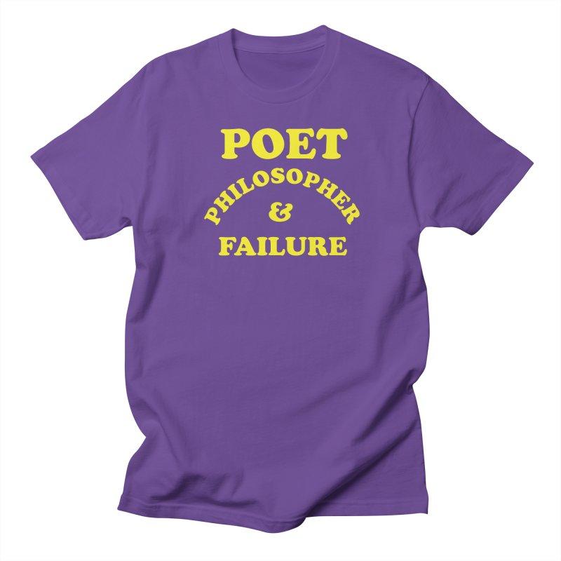 POET PHILOSOPHER & FAILURE (yllw) Men's Regular T-Shirt by VOID MERCH
